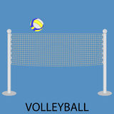 Volleyball sport icon Royalty Free Stock Photos
