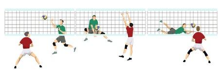 Volleyball sport set. Stock Photo