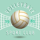 Volleyball sport team emblem Royalty Free Stock Photography