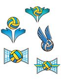 Volleyball sports symbols and icons Stock Photos