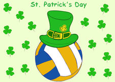 Volleyball St. Patrick's Day Royalty Free Stock Photos