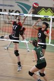 Volleyball - struggle over the net Royalty Free Stock Image