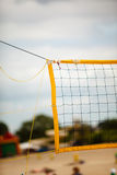 Volleyball summer sport. Net on a sandy beach Royalty Free Stock Photo