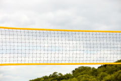 Volleyball summer sport. Net on a sandy beach Royalty Free Stock Photos