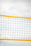 Volleyball summer sport. Net on a sandy beach Royalty Free Stock Photos