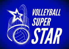 Volleyball super star design Stock Image