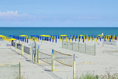 Volleyball sur la plage Images libres de droits