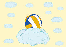 Volleyball sur un nuage Images stock