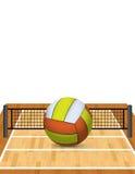 Volleyball sur une illustration de cour illustration libre de droits