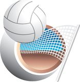 Volleyball swoosh Stock Photography