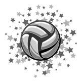 Volleyball symbol stars royalty free stock photo