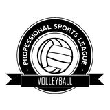 Volleyball symbol Royalty Free Stock Image