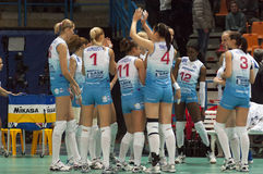 Volleyball team Dinamo Russia royalty free stock photos