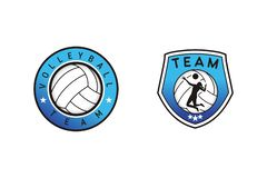 Volleyball team logo design royalty free illustration