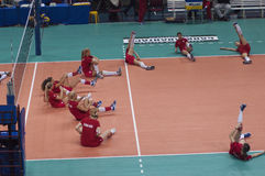 Volleyball team Red Star Belgrade Serbia royalty free stock image