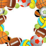 volleyball, tennis and Rugby football balls Royalty Free Stock Images