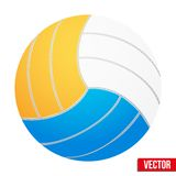 Volleyball in three colors. Vector. Isolated on Royalty Free Stock Photography