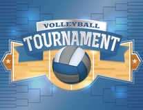 Volleyball Tournament Design Poster Illustration Royalty Free Stock Photo