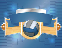 Volleyball Tournament Illustration Royalty Free Stock Images