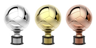 Volleyball trophies Royalty Free Stock Photos