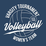 Volleyball typography for t-shirt print. Varsity athletic t-shirt graphics Royalty Free Stock Images