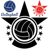 Volleyball. Vector illustration (EPS 10 Stock Photo