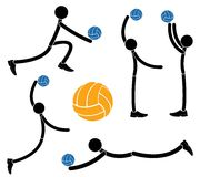 Volleyball. Vector illustration (EPS 10 Royalty Free Stock Photos
