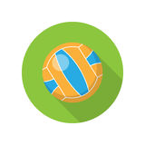 Volleyball Vector Illustration in Flat Design Stock Photos