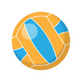 Volleyball Vector Illustration in Flat Design Stock Image