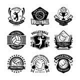 Volleyball-Vektor-Ikonen 35 Lizenzfreies Stockfoto