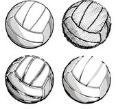 Volleyball / Volleyballs Vector Images. Vector Images of Graphic Volleyballs Royalty Free Stock Photo