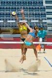 Volleyball-Weltmeisterschaft des Strand-2011 - Rom, Italien Stockfotografie