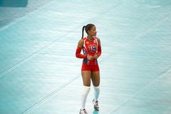 Volleyball WGP. Ana Yorkira Binet Stephens, Dominican Republic Team at Volleyball world grand prix 2014, PRELIMINARY ROUND Pools Composition - POOL A-I (August 1 Royalty Free Stock Photography