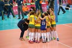 Volleyball WGP: Brasilien GEGEN USA Lizenzfreie Stockbilder