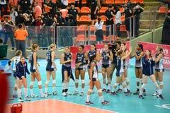 Volleyball WGP: Brasilien GEGEN USA Stockbild