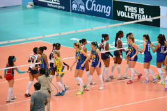 Volleyball WGP : Brazil VS Dominican Stock Image