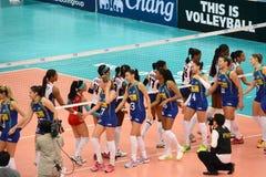Volleyball WGP : Brazil VS Dominican Stock Photo