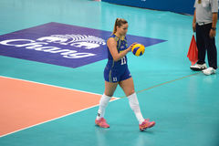 Volleyball WGP : Brazil VS Dominican Stock Photos