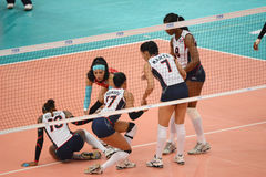 Volleyball WGP : Brazil VS Dominican Royalty Free Stock Images