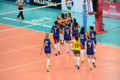 Volleyball WGP : Brazil VS Dominican Royalty Free Stock Image