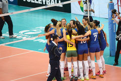 Volleyball WGP : Brazil VS Dominican Royalty Free Stock Photo