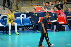Volleyball WGP : Brazil VS USA. Coach team, Brazil Team at Volleyball world grand prix 2014, PRELIMINARY ROUND Pools Composition - POOL A-I (August 1-24, 2014 Stock Photo