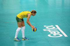 Volleyball WGP : Brazil VS USA. Danielle Lins, Brazil team at Volleyball world grand prix 2014, PRELIMINARY ROUND Pools Composition - POOL A-I (August 1-24, 2014 Stock Images