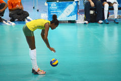 Volleyball WGP : Brazil VS USA. Fabiana Claudino, Brazil team  at Volleyball world grand prix 2014, PRELIMINARY ROUND Pools Composition - POOL A-I (August 1-24 Stock Photo