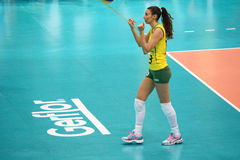 Volleyball WGP : Brazil VS USA. Jaqueline Pereira De Carvalho Endres , Brazil team at Volleyball world grand prix 2014, PRELIMINARY ROUND Pools Composition Stock Photo
