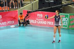 Volleyball WGP : Brazil VS USA. Kelsey Robinson, USA team at Volleyball world grand prix 2014, PRELIMINARY ROUND Pools Composition - POOL A-I (August 1-24, 2014 Stock Photo