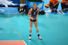 Volleyball WGP : Brazil VS USA. Lauren Gibbemeyer, USA team at Volleyball world grand prix 2014, PRELIMINARY ROUND Pools Composition - POOL A-I (August 1-24 Stock Photo