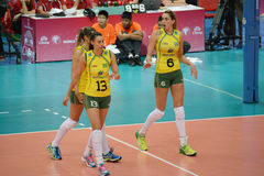 Volleyball WGP : Brazil VS USA Royalty Free Stock Images