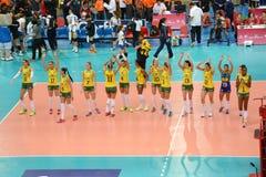 Volleyball WGP : Brazil VS USA Royalty Free Stock Image