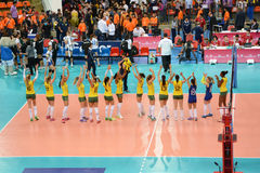 Volleyball WGP : Brazil VS USA Royalty Free Stock Image